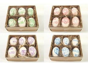 Velikonoční vajíčka barevná sada 6ks