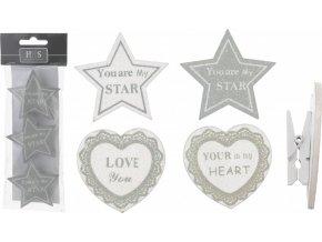 hvezdy a srdce na kolicku