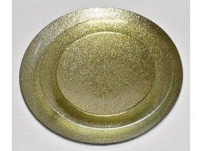 Tác skleněný zlatá perleť kruh