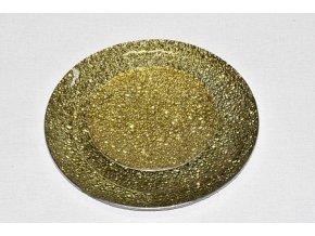 Tác skleněný zlatá mražená kruh