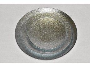 Tác skleněný stříbrná perleť kruh
