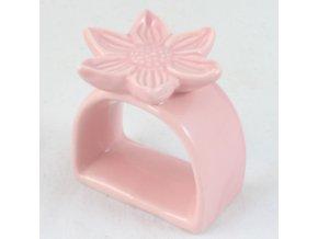 Držák na ubrousky Květina růžová