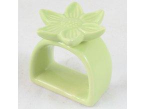 Držák na ubrousky Květina zelená