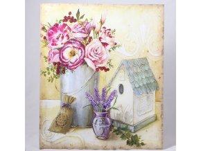 Obraz na plátně s motivem květin ve váze