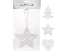 vanocni dekorace srdce hvezda strom
