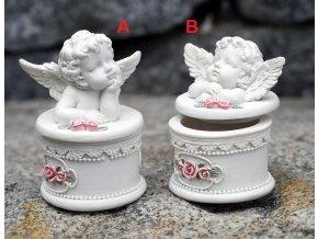 Dóza na šperky anděl 5x7cm