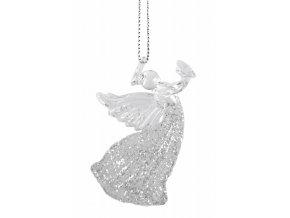 Anděl k zavěšení sklo