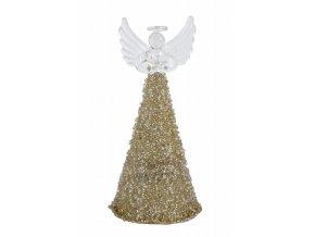 Skleněný zlatý anděl