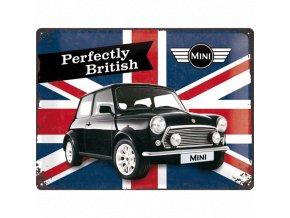 Plechová cedule MINI Perfectly British