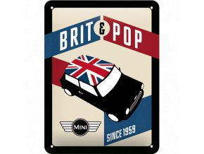 Plechová cedule MINI Brit&Pop