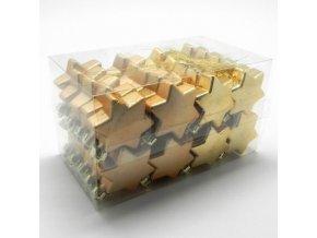 hvezdicky zaves pvc pr 4 5cm 40ks zlata