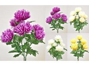 Květina umělá chryzantéma 56cm