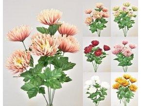 Květina chryzantéma umělá 57cm