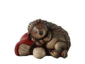 Ježek spící keramika