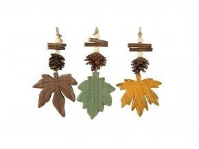 Závěsná dekorace javorový list