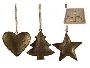 Vánoční dekorace kov set 6ks