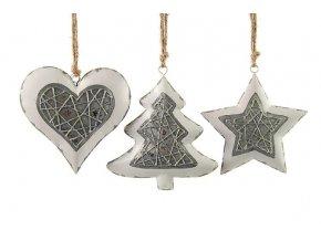 Vánoční dekorace kov