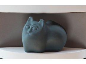 Zvlhčovač kočka antracit 22x13x17cm