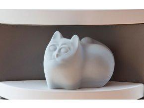 Zvlhčovač kočka šedý 22x13x17cm