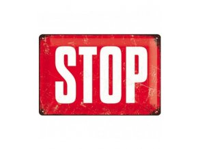 STOP Metalen Bord 20 x 30 cm Nostalgic Art 38