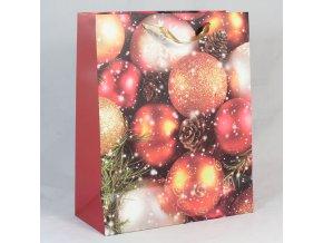 Dárková taška Vánoční ozdoby 18×23×10cm