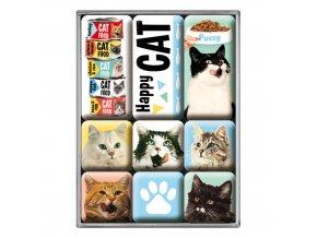 Magnetky na ledničku Happy Cat