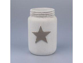 Bílá váza Hvězda 20cm