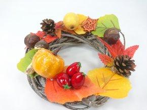 Podzimní věnec dekorační 20x9cm