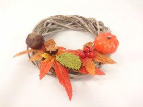 Podzimní věnec 16x6cm