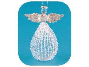 Anděl skleněný na postavení 10cm