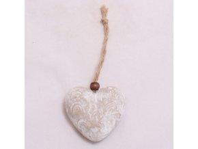 Srdce pro závěs se vzorkem 6,5x6cm