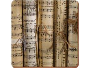 Korkové prostírání Music Notes