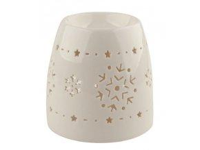 Aroma lampa porcelánová s vločkami 11cm