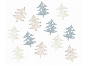 Dřevěné stromky šedé 4cm Set 12ks