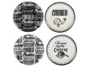 Dezertní talíře    Gourmet Cheese   sada 4ks