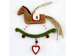 Vánoční ozdoba houpací kůň