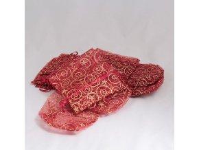 Ozdobný sáček na láhev červený 35cm