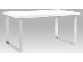 Jídelní stůl bílý lesklý