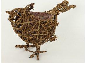 Proutěný obal ve tvaru ptáčka 33x18x23cm
