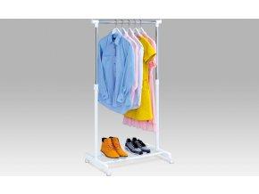 Stojan na šaty s odkladačem na boty chrom / bílá