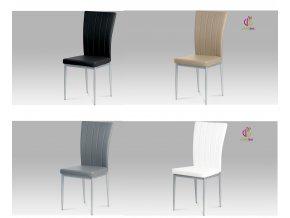 Jídelní židle koženková 43x41x98x48cm