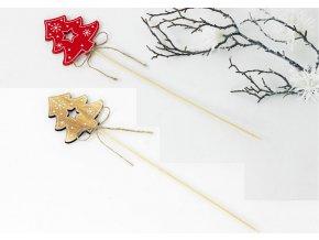 Vánoční dřevěný zápich stromeček