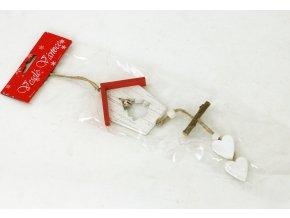 Vánoční dřevěvná dekorace ptačí budka