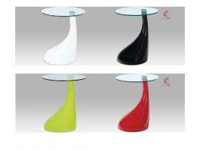 Odkládací stolek plastový | skleněná deska | 45x53cm