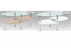Konferenční stolek | skleněná vrchní deska | kovová konstrukce