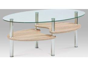 Konferenční stolek 100x60x42 cm, sonoma / čiré sklo 6 mm