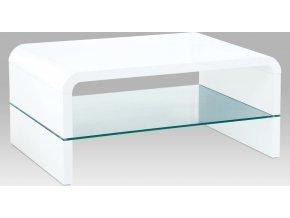 Konferenční stolek bílý lesklý | 90x60x40cm