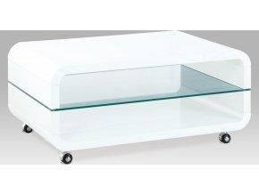 Konferenční stolek bílý | pojízdný | 90x60x40cm