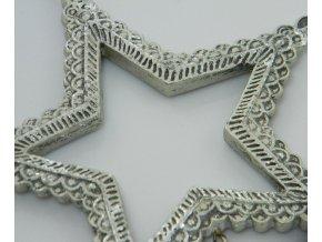 Stříbrná hvězda s přívěskem
