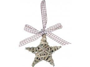 Proutěná hvězda s mašlí 7cm